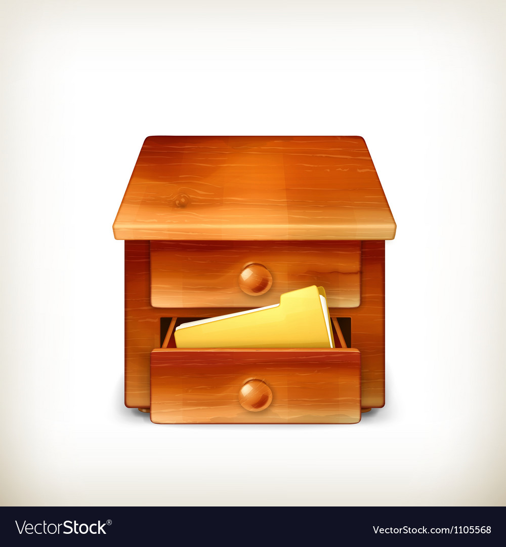 Secretary desk vector