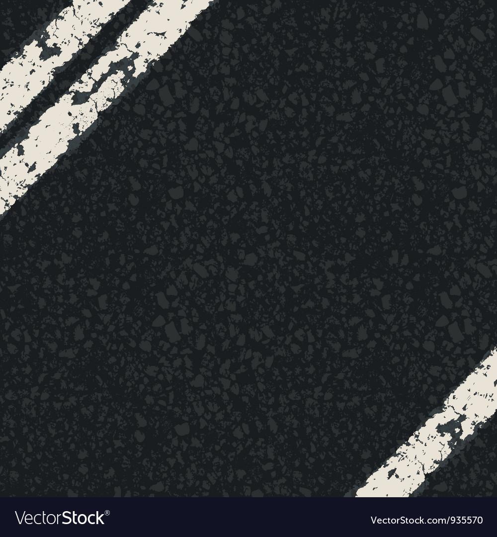 Fragment of asphalt road vector
