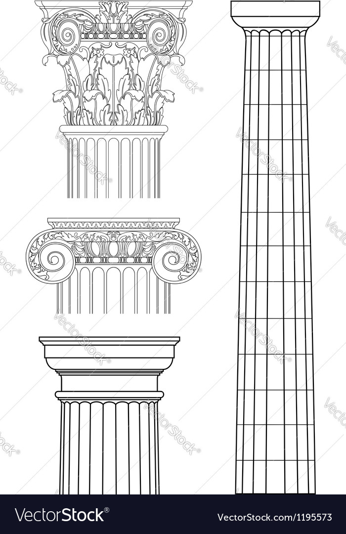 Set of columns vector
