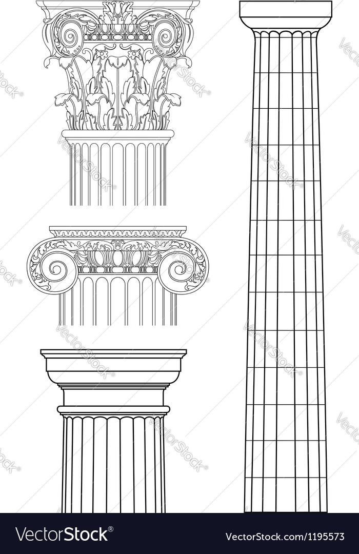 Set of columns vector