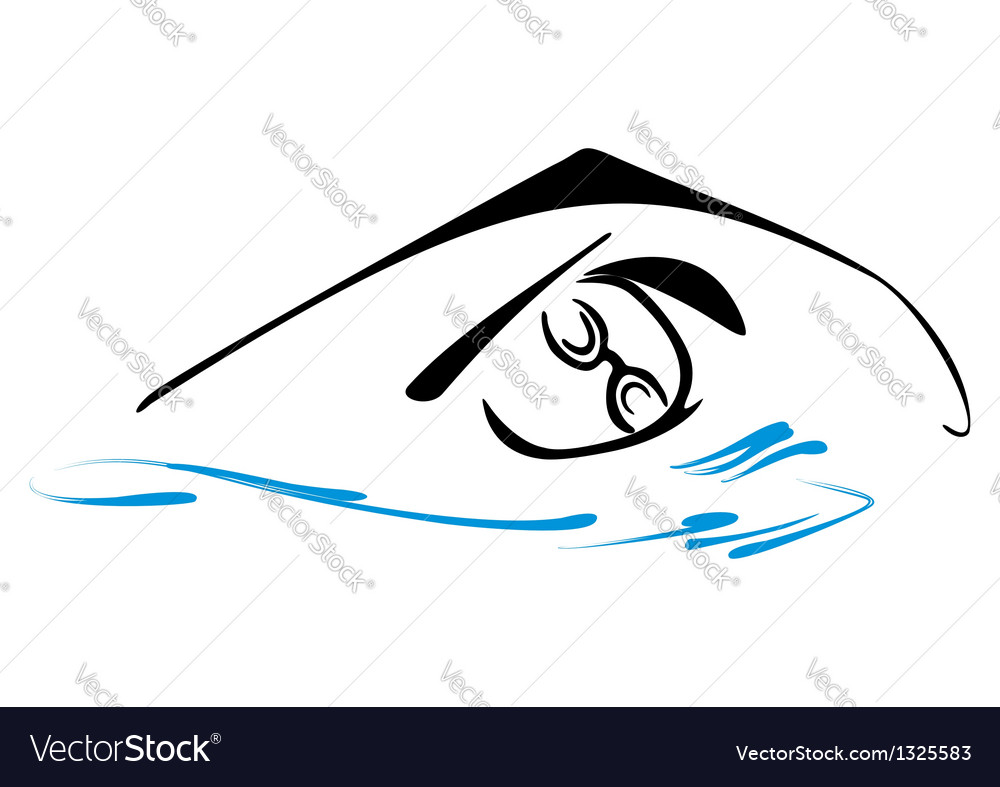 Swimming symbol vector