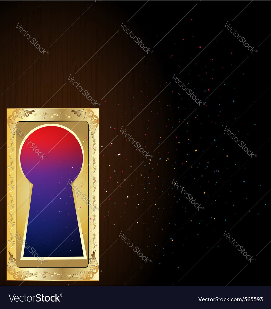 Golden keyhole vector