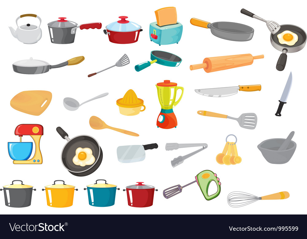 Kitchen utensils vector art - Download Kitchen vectors - 995599
