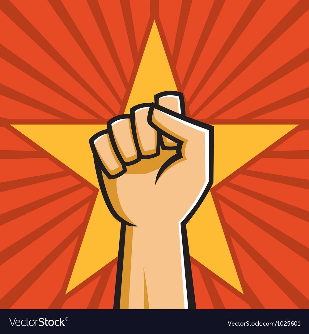 Soviet raised fist vector