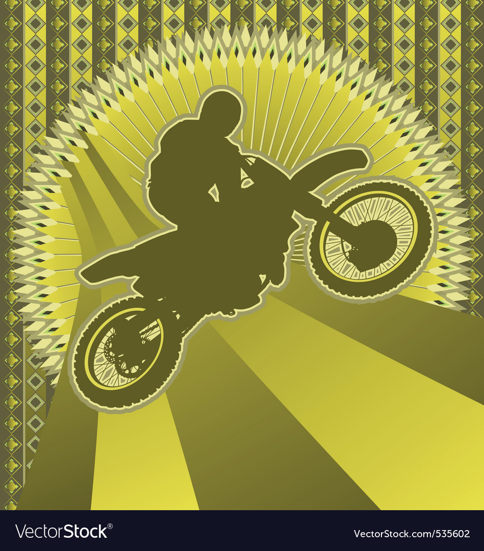 Motorcyclist vintage design vector