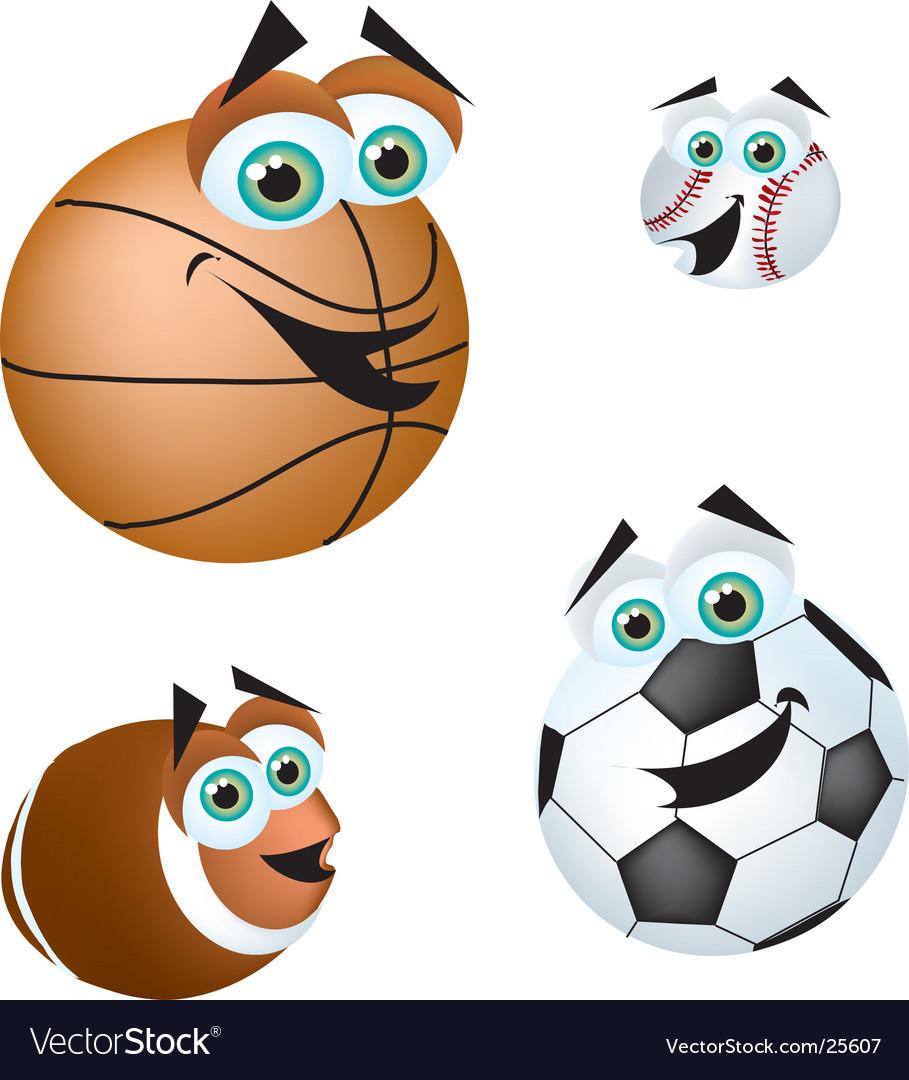 Crazy sports balls vector