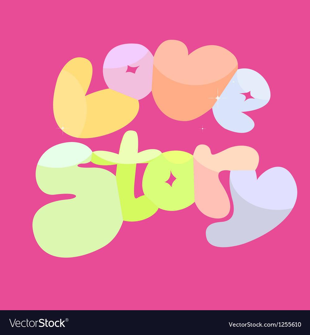 Love story banner vector