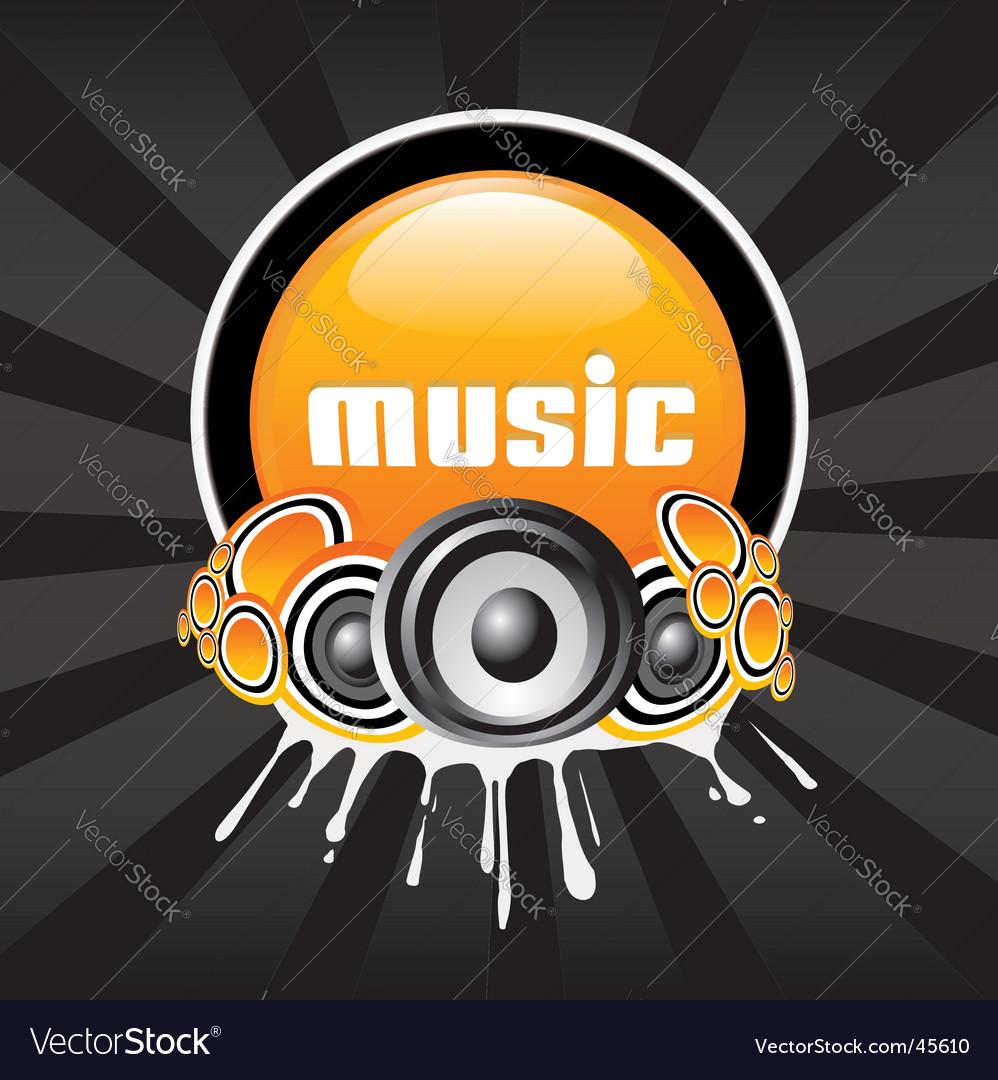 Music banner vector