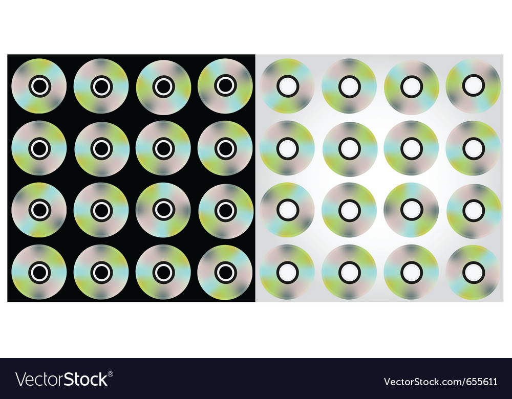 Free compact discs pattern vector