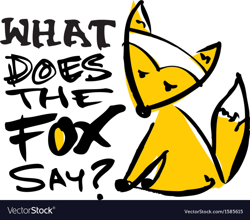 Free what does the fox say vector