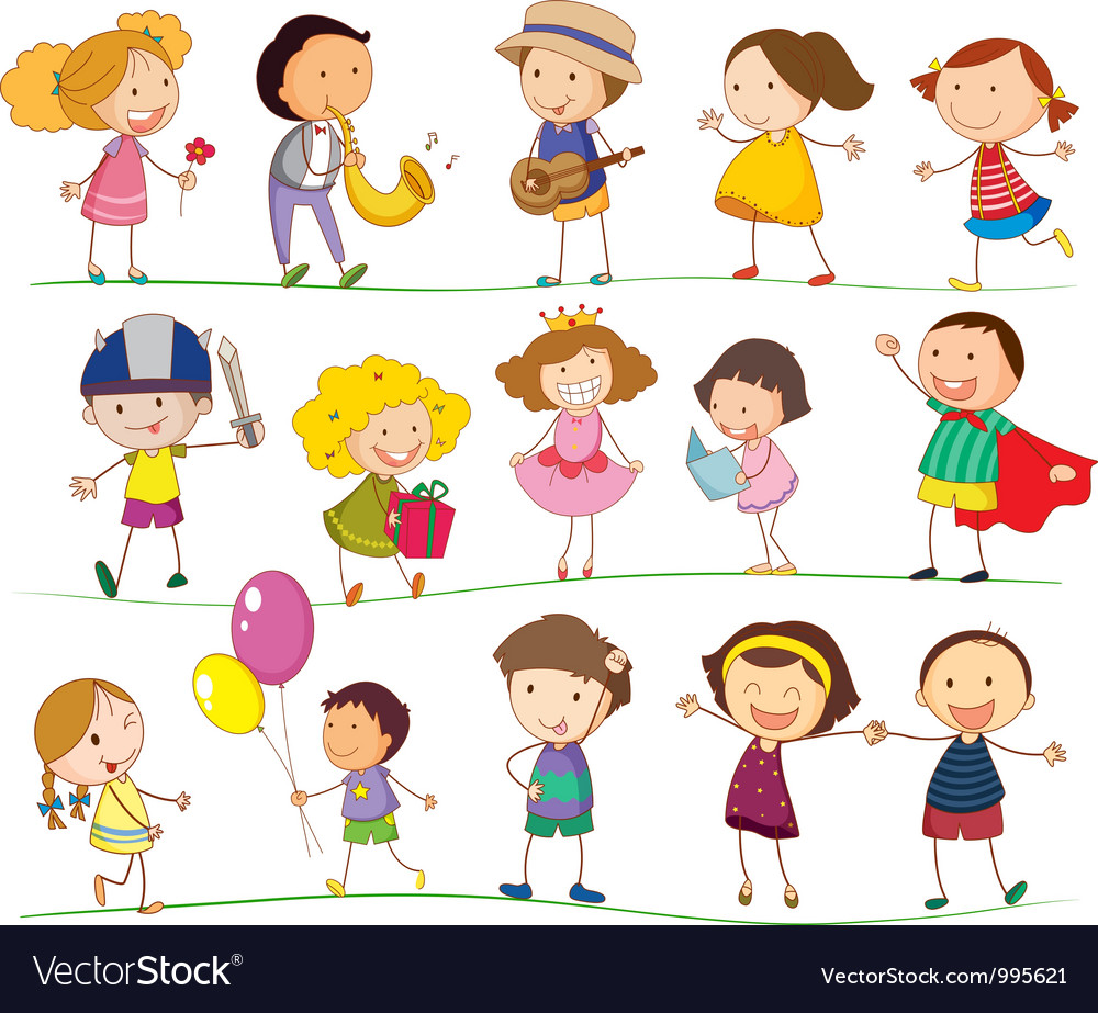 Cute family and kids vector art - Download Path vectors - 995621