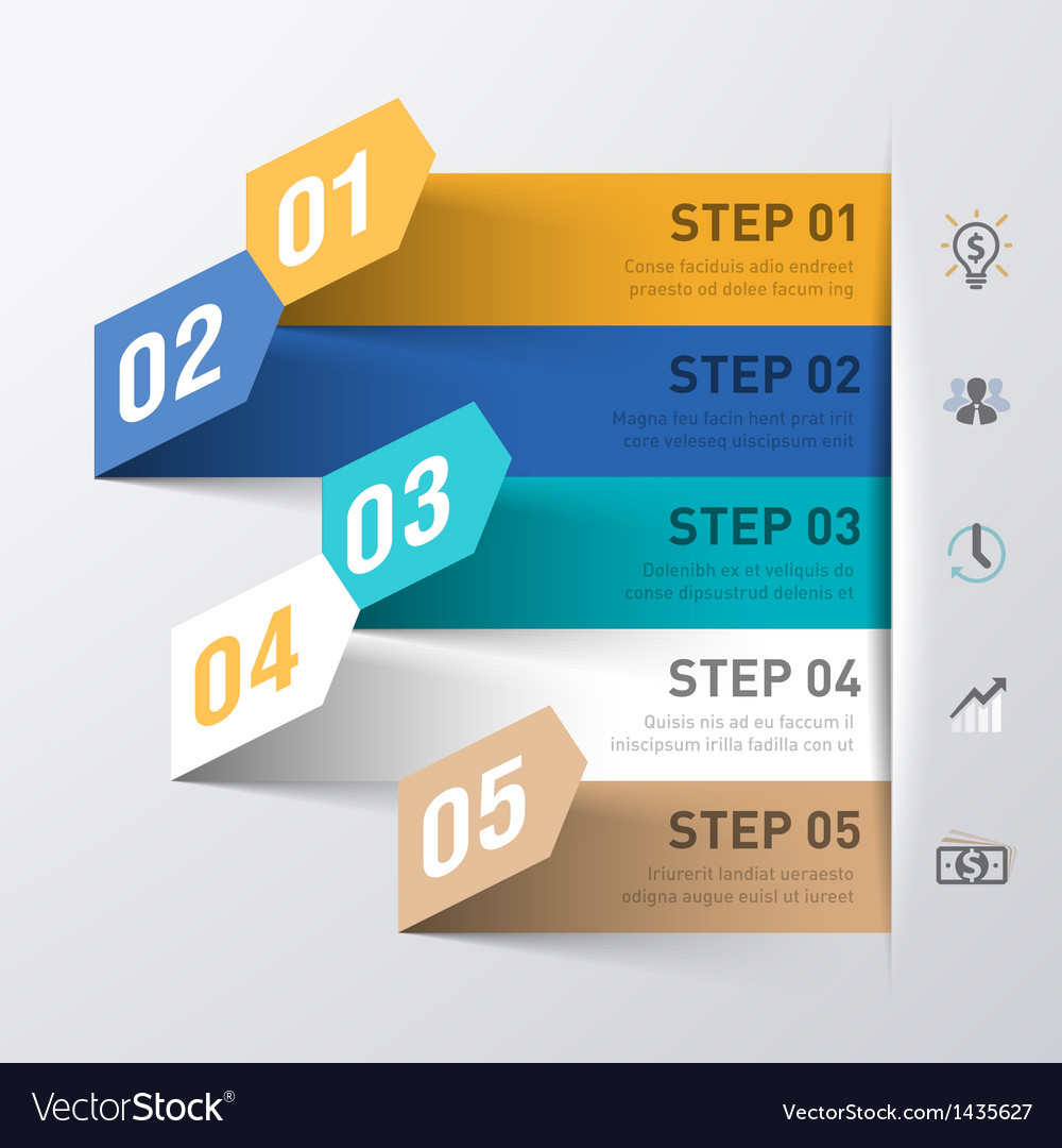 Business process abstract infographics template vector