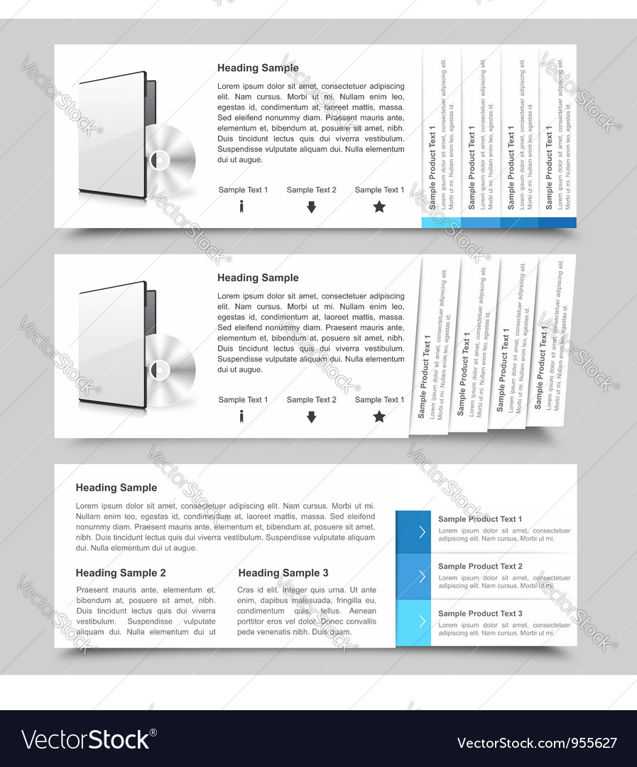 Web slide templates vector