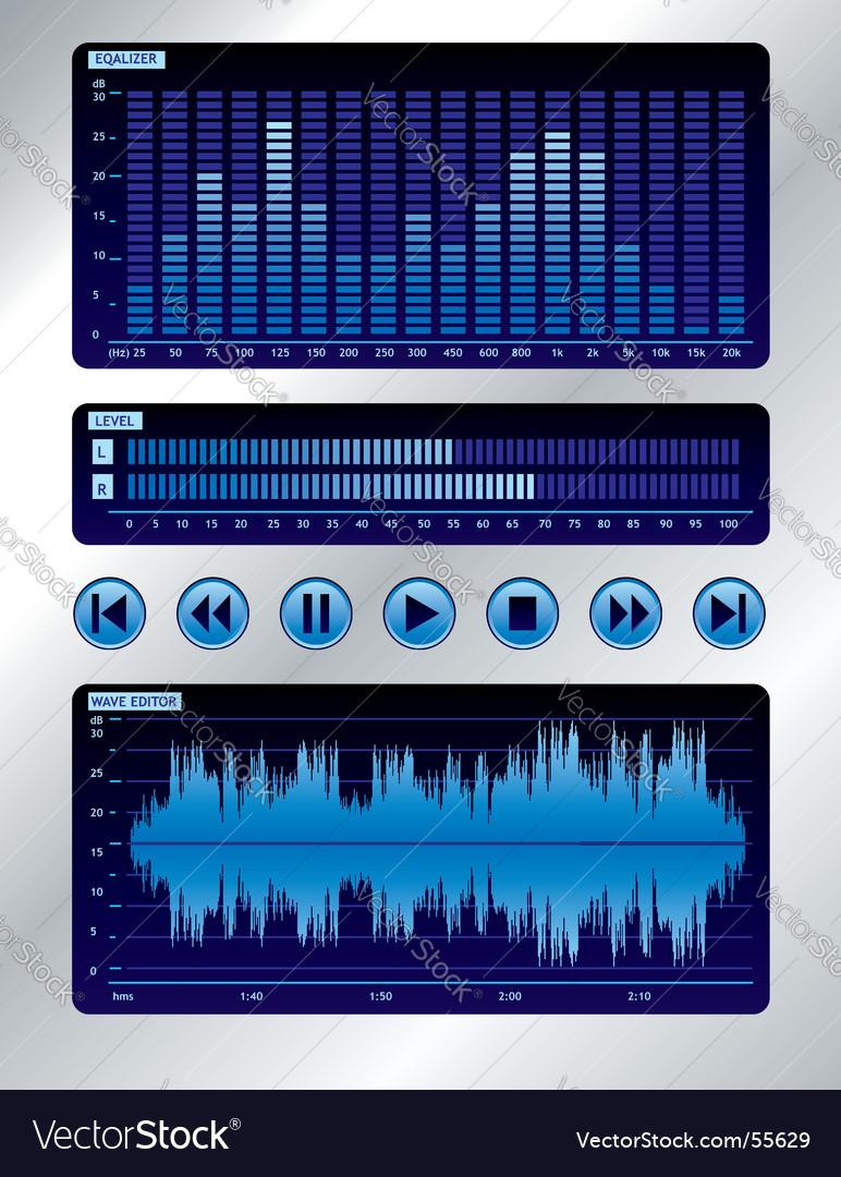 Sound mixer vector