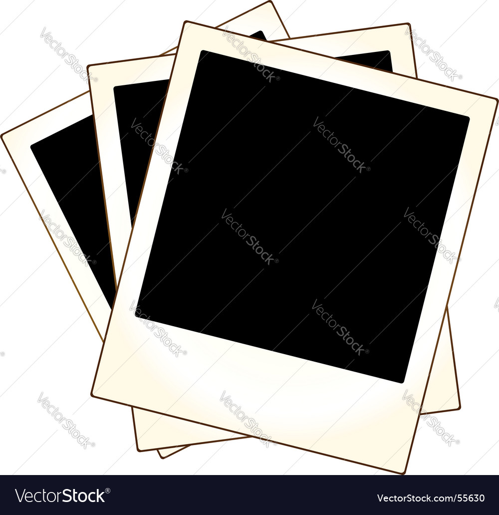Polaroid photo frames vector