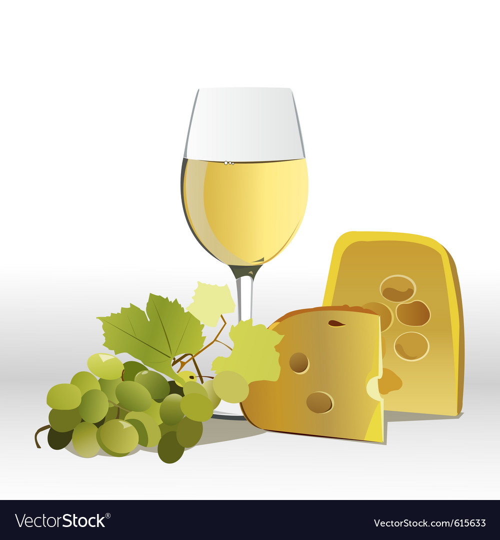 Whte wine vector