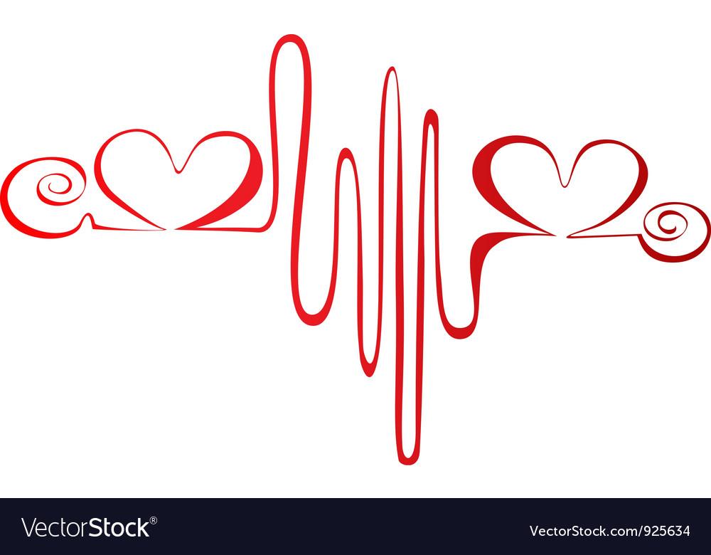 Heartbeat or cardiogram logo vectorHeartbeat Line Vector
