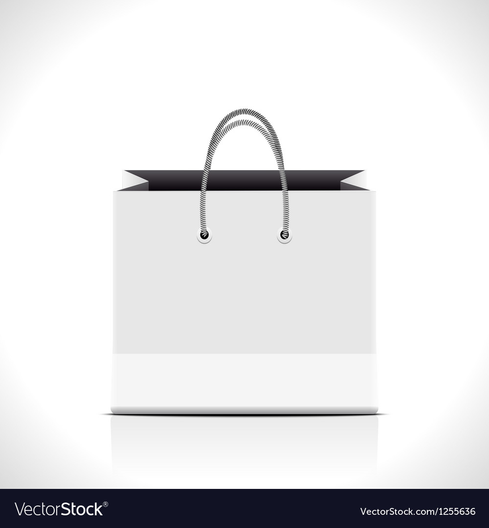 Shopping paper bag vector