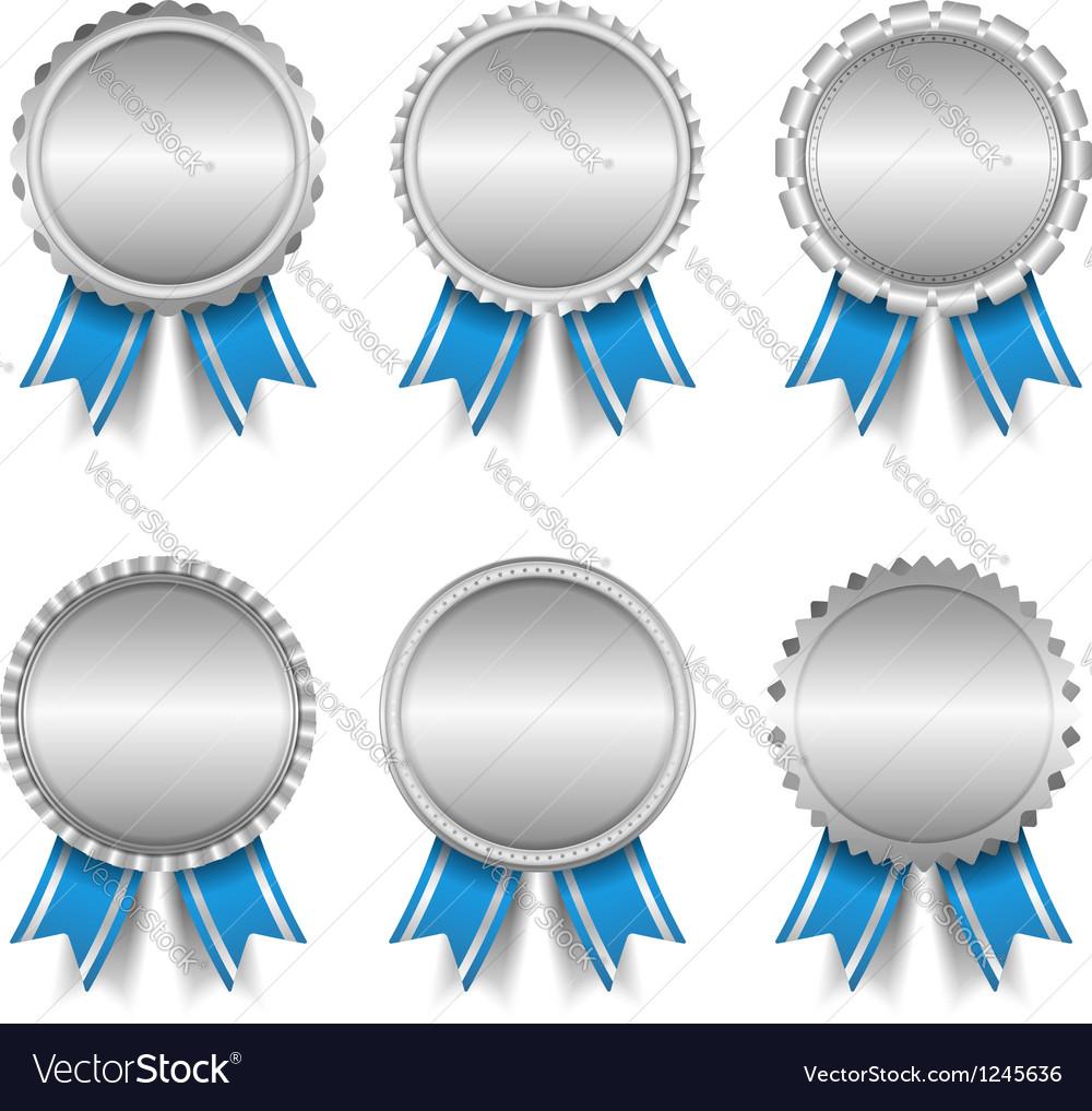 Silver medals vector