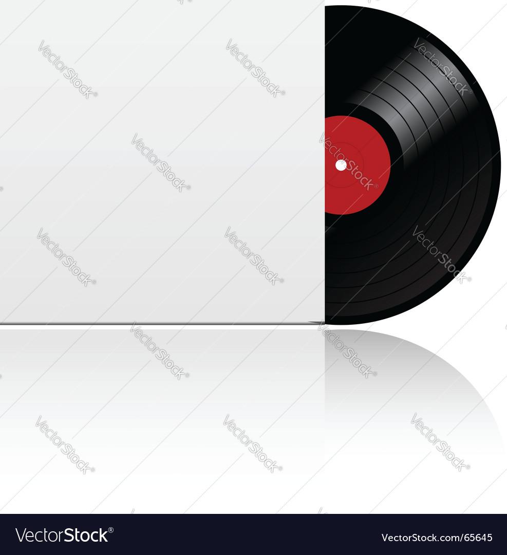 Vinyl record in box vector
