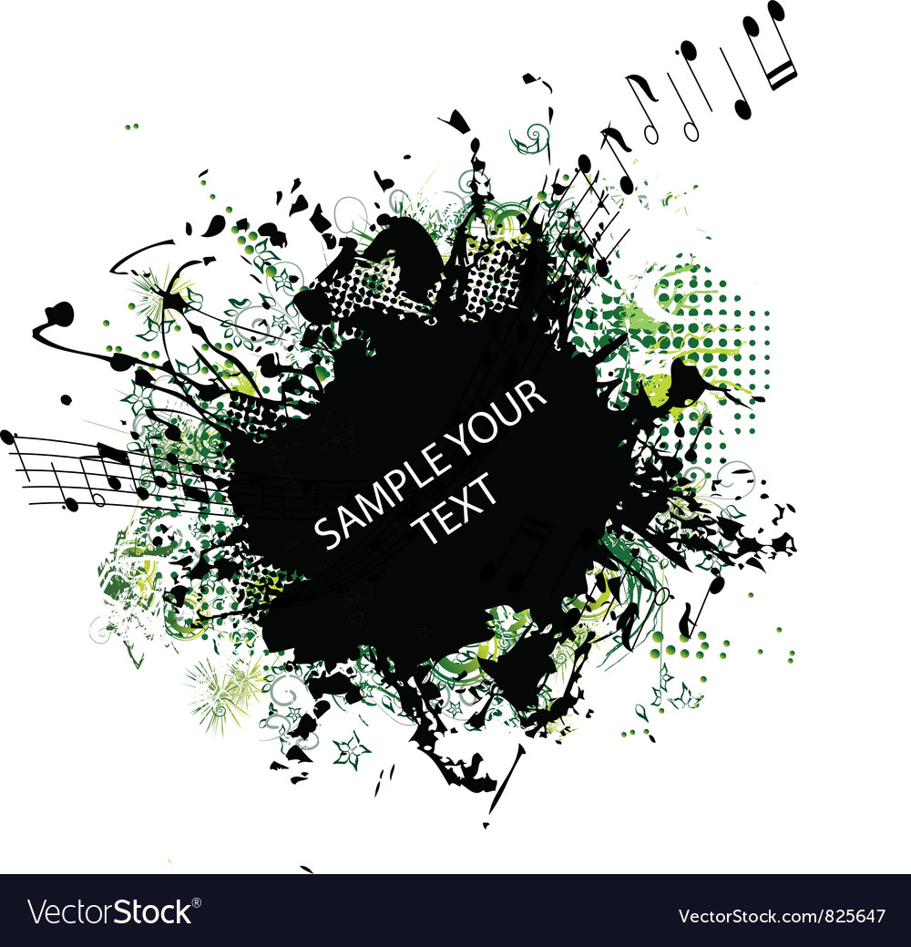Music grunge frame vector