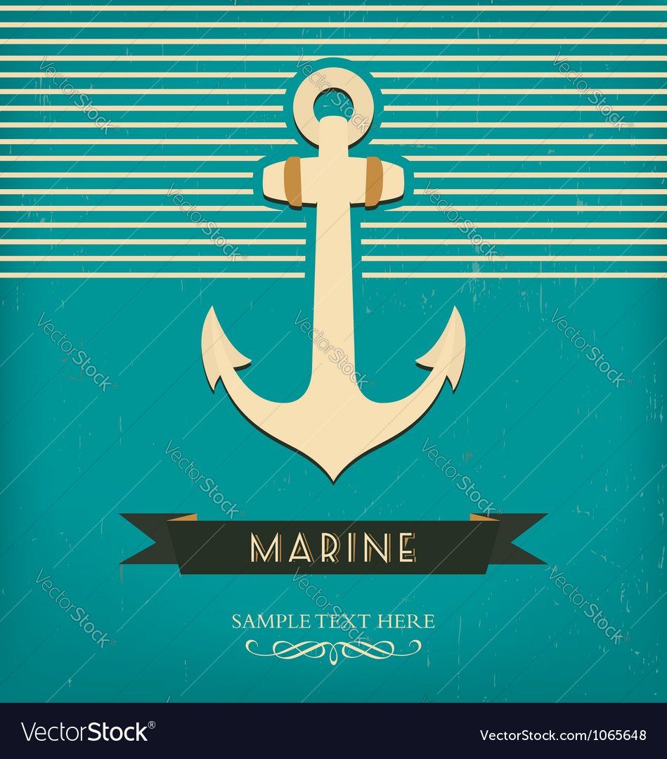 Anchor design template vector