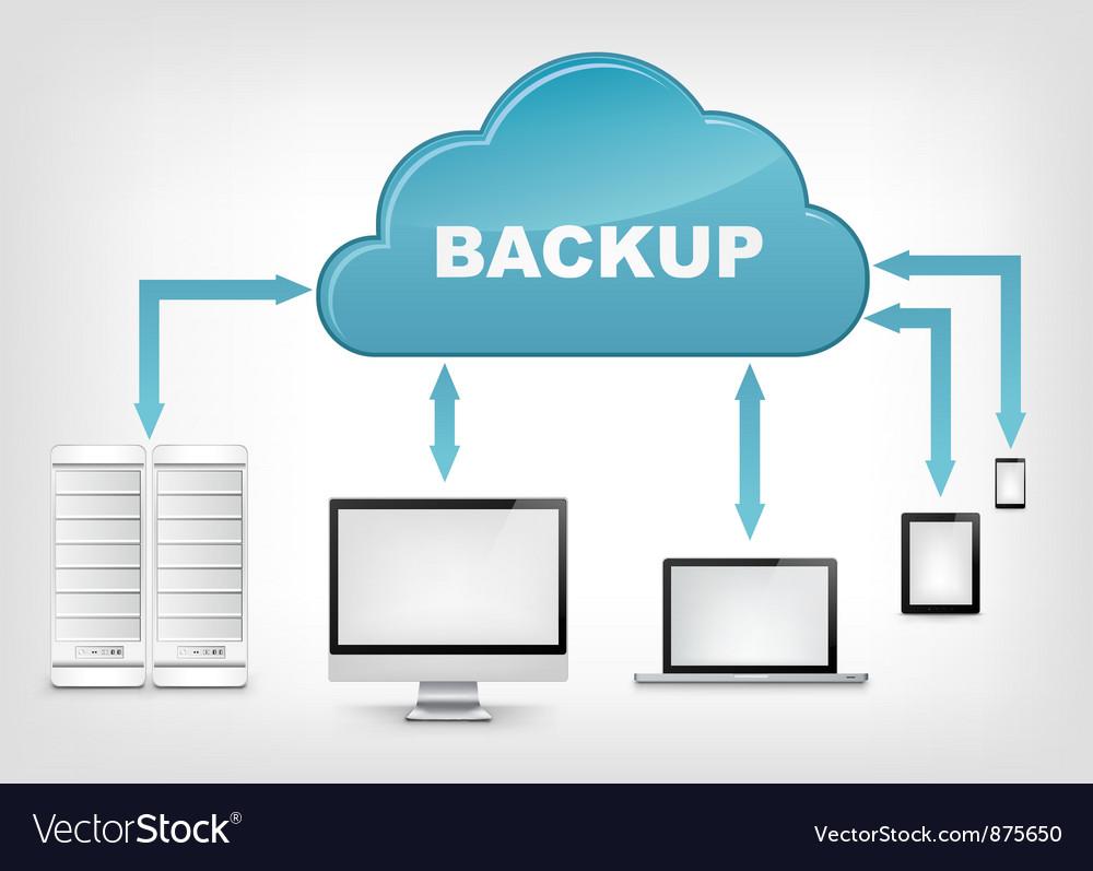 Cloud service eps 10 vector