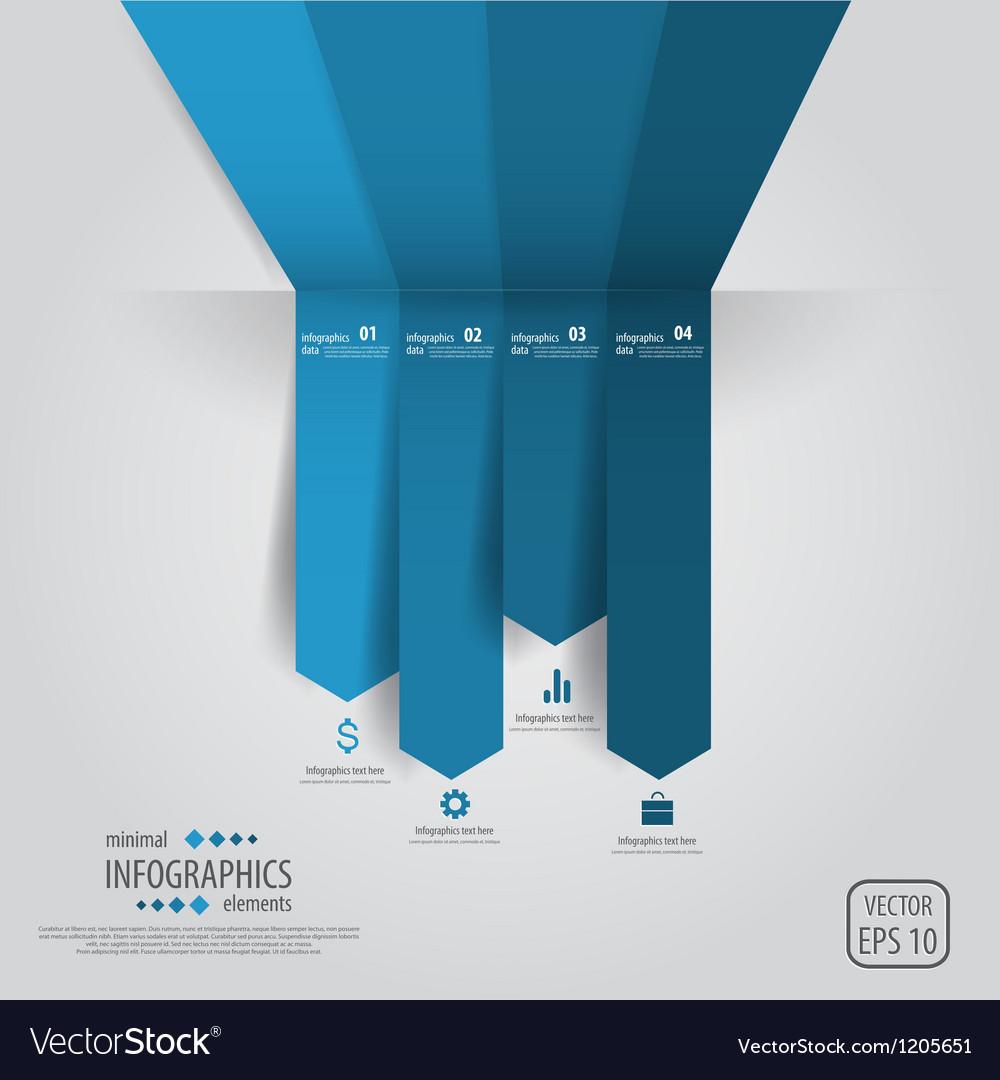 Line infographics vector