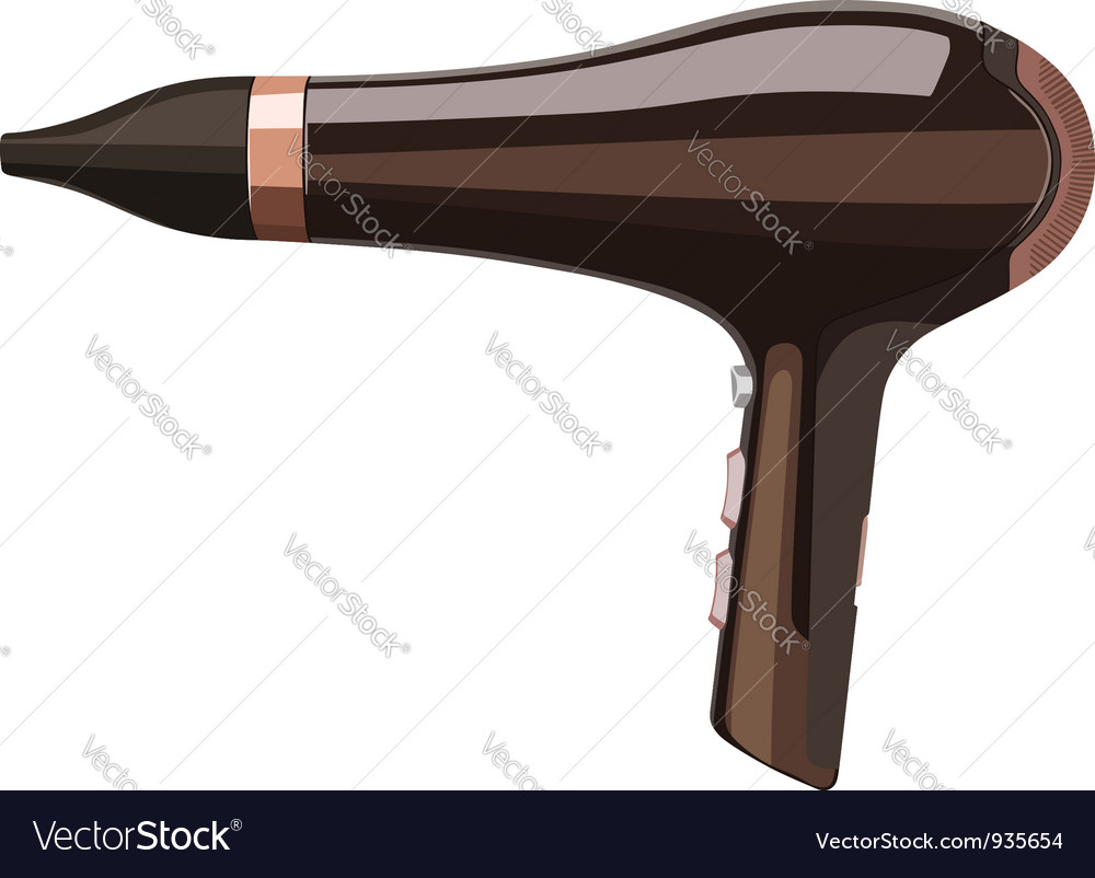 Hair dryer vector