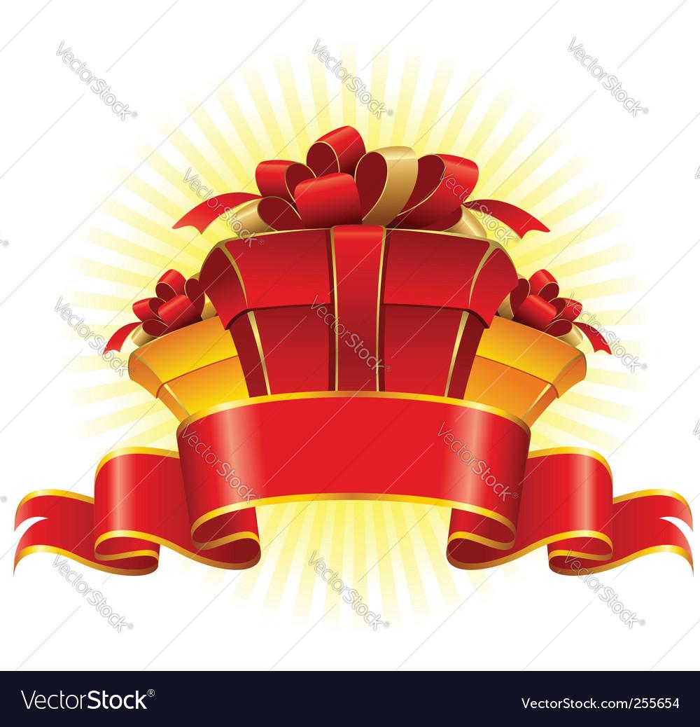 Three cardboard gift box vector