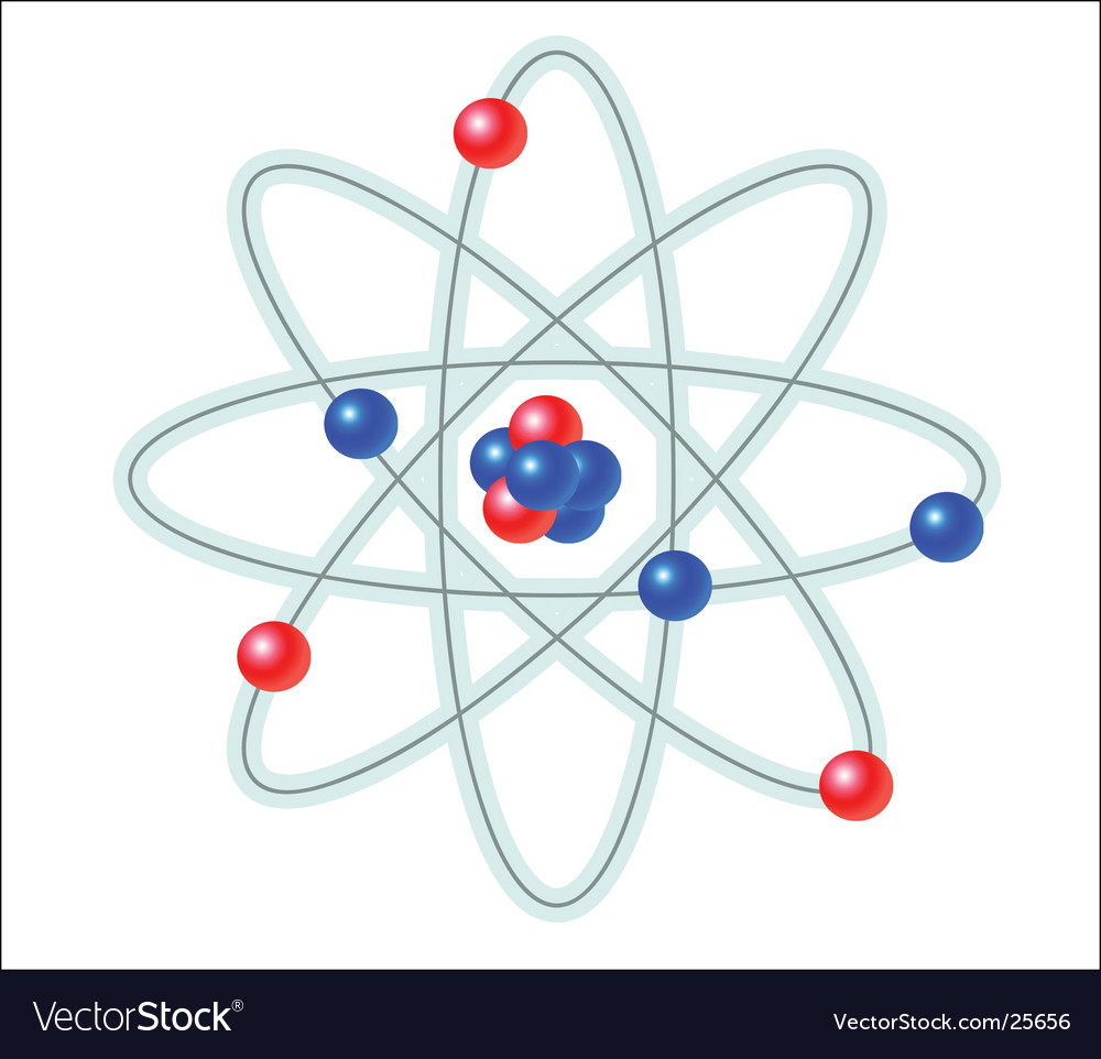 Atom illustration vector