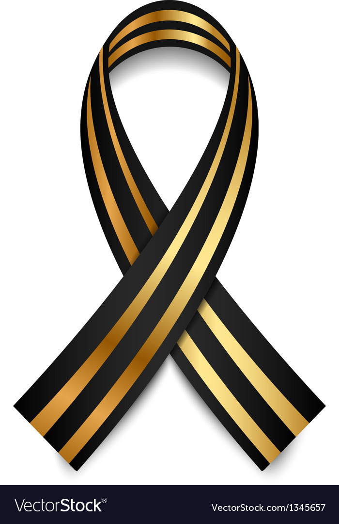 Black and gold st george ribbon vector