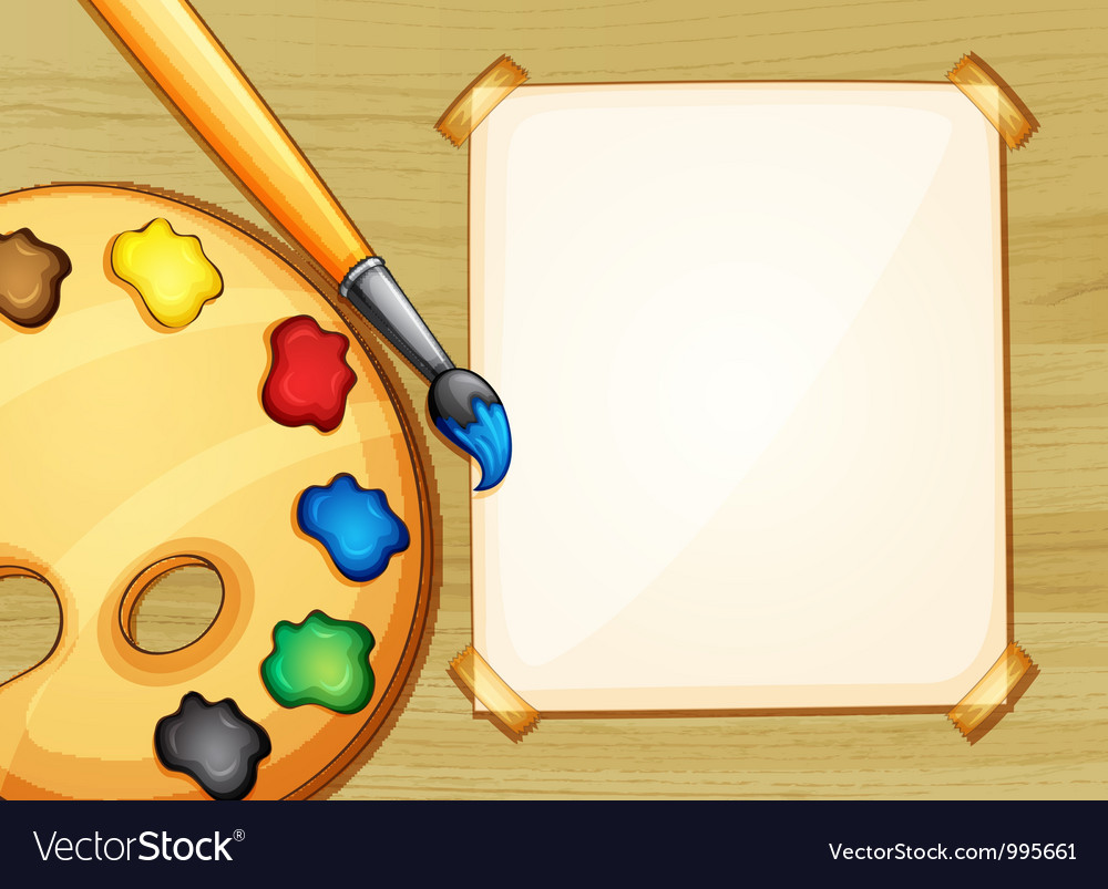Painting setup vector