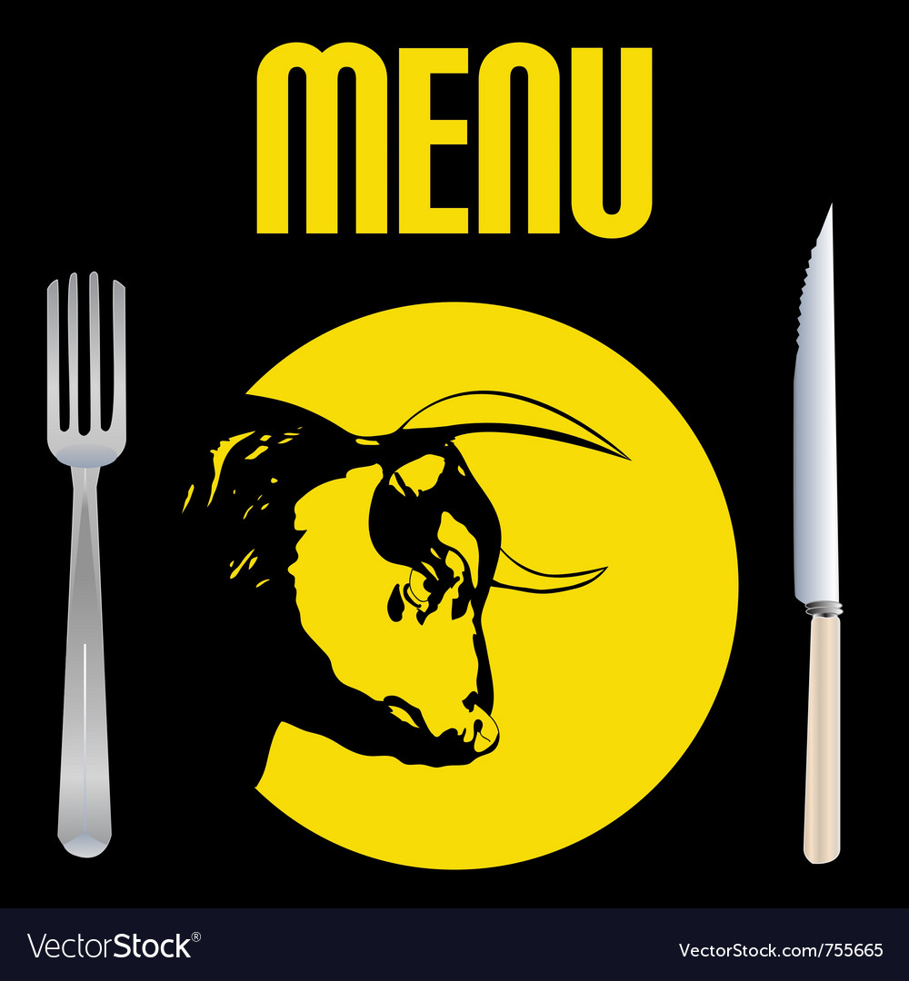 Steak menu vector