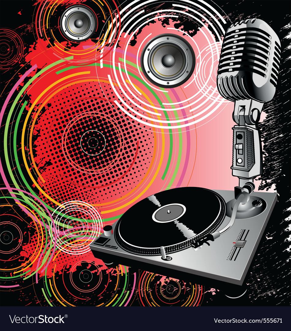 Dj background vector