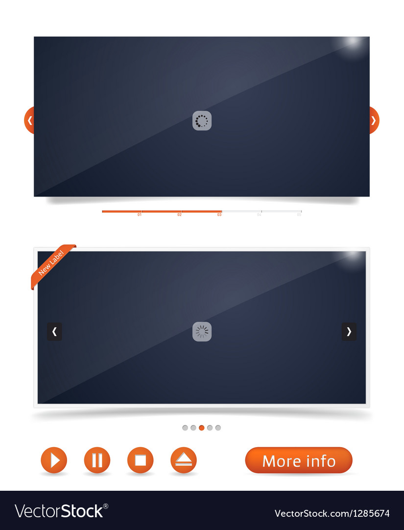 Web design frames vector