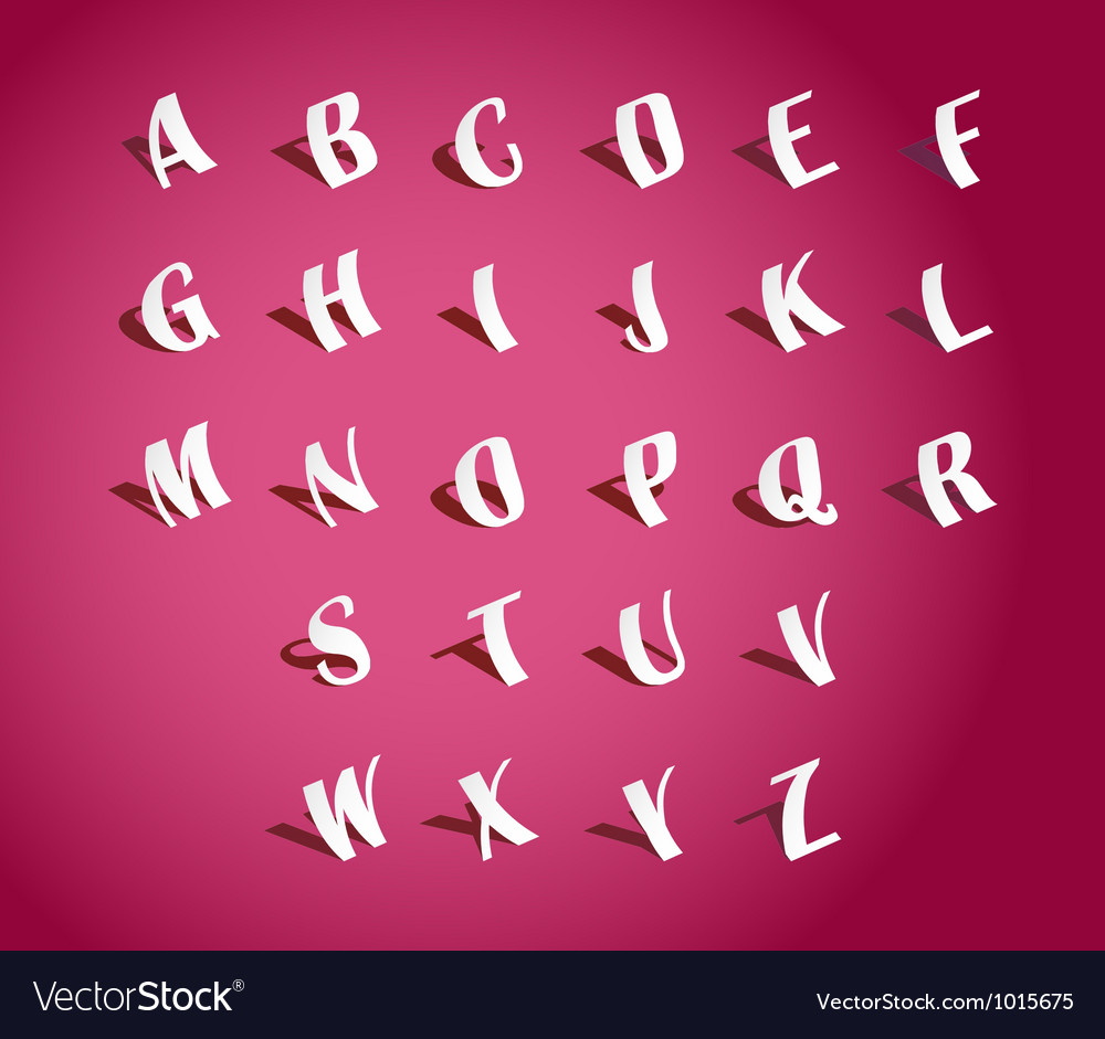 Paper alphabets vector