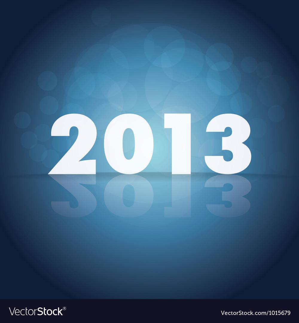 2013 year vector