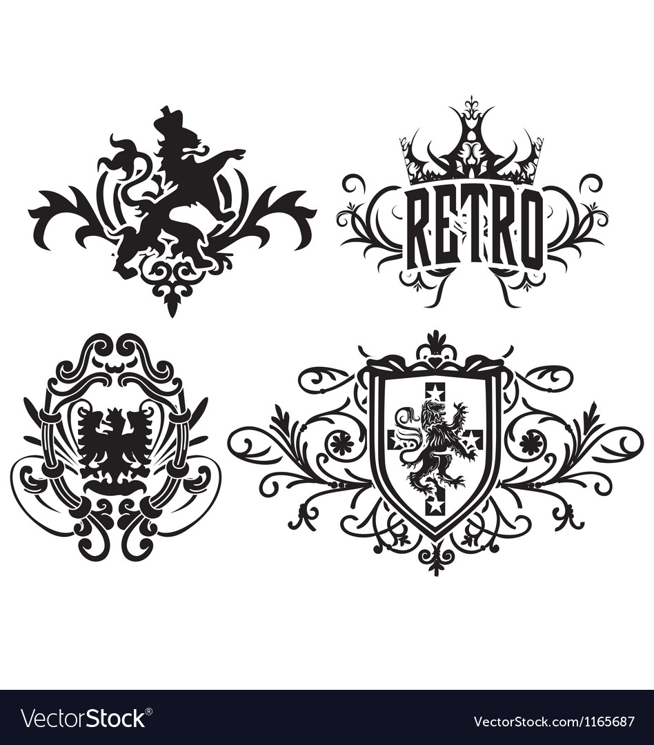 Classic royal heraldic emblem vector