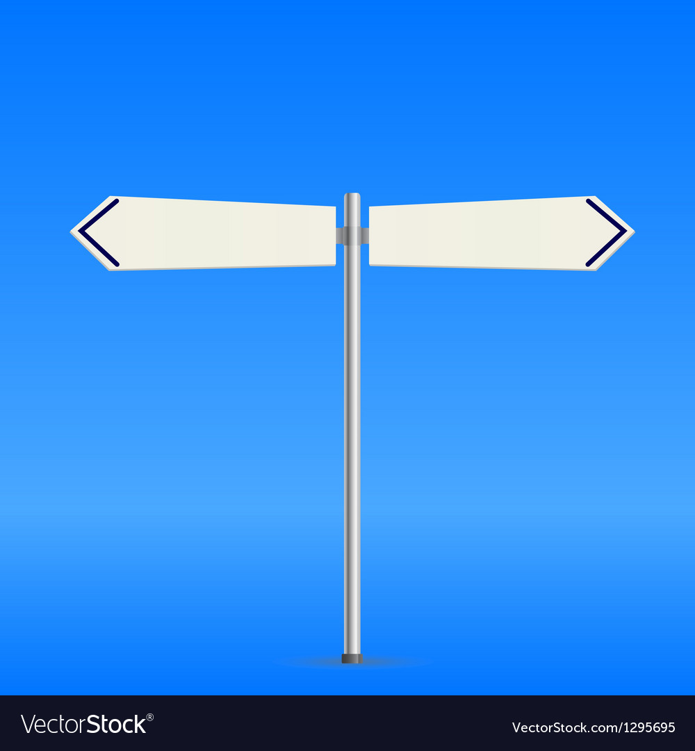 White road sign vector