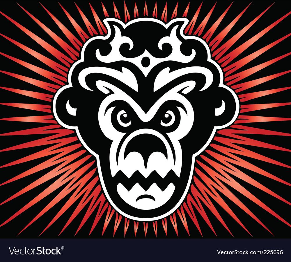 Gorilla king vector