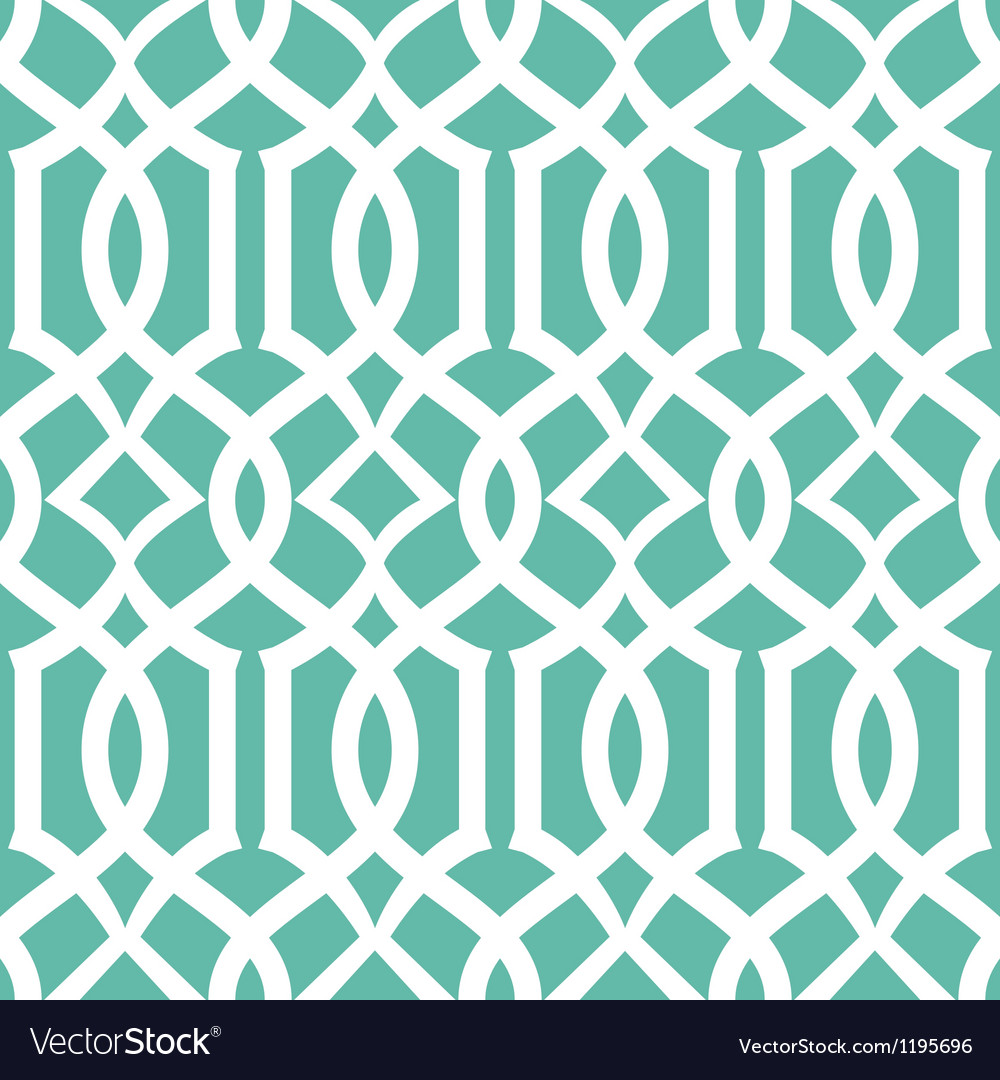 Seamless emerald trellis background pattern vector