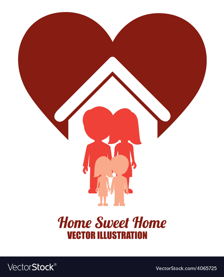 Sweet Home Design Vector By Grmarc Image 4065725 VectorStock