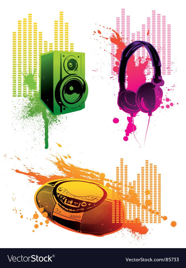 Grunge loudspeaker vector
