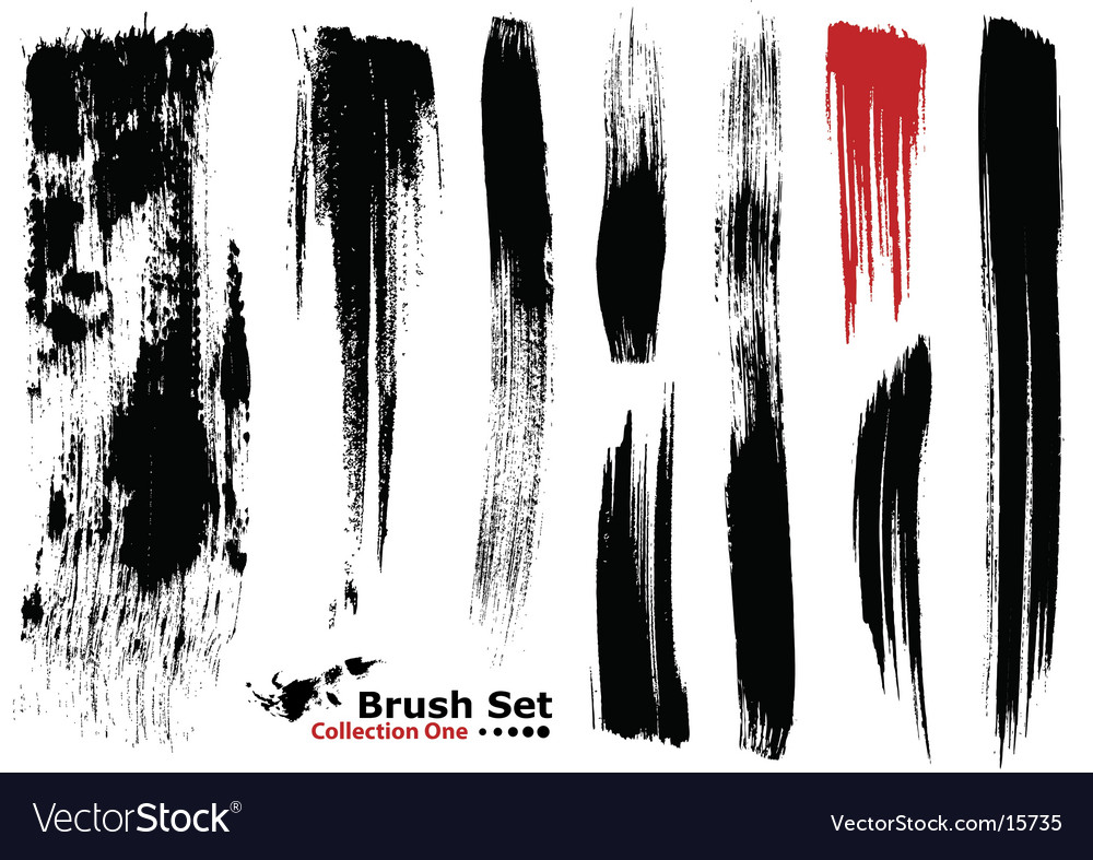 Highly detailed illustration brushes  vector