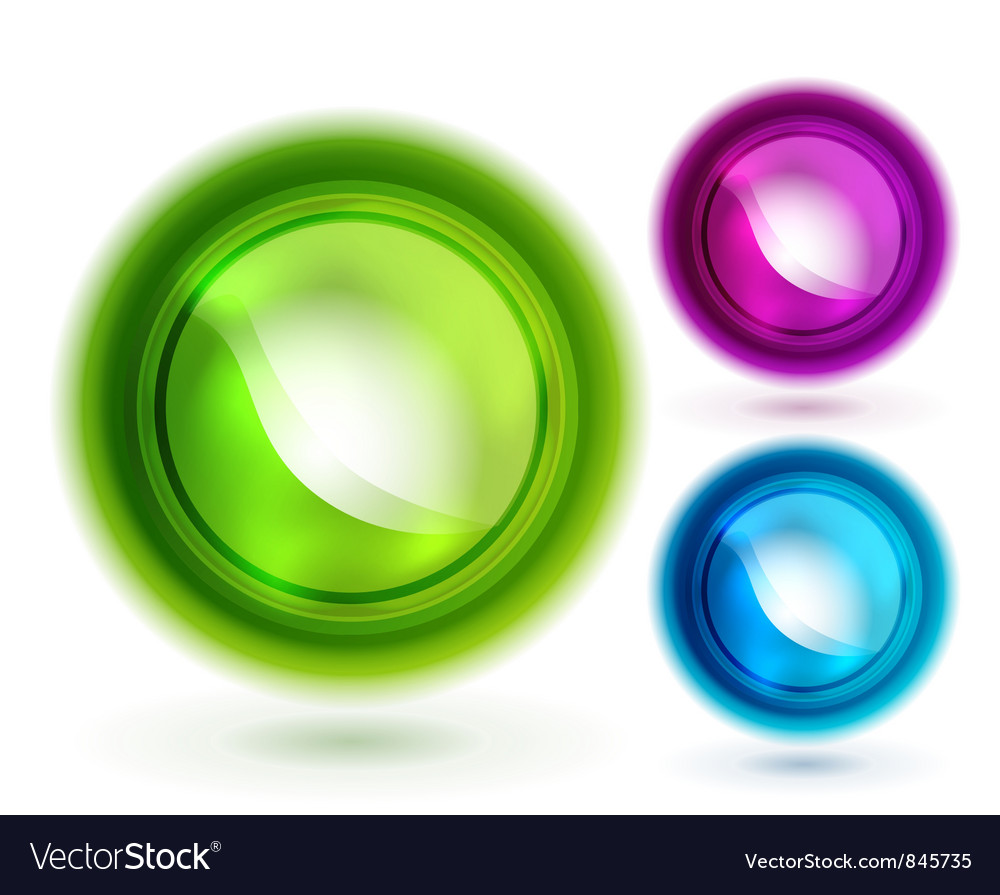 Liquid buttons vector