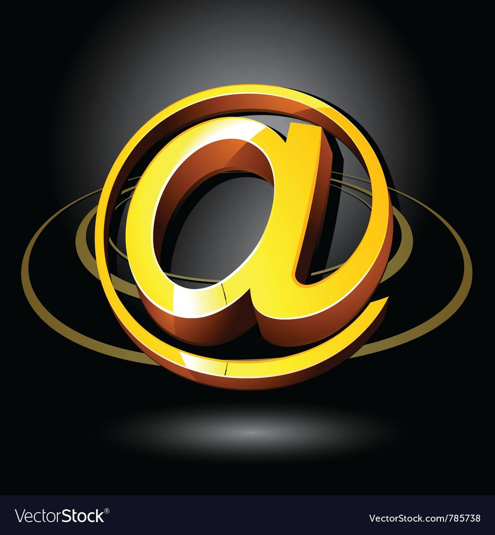 3d email symbol vector