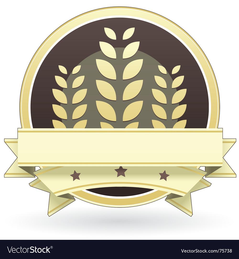 Blank whole grain food label vector
