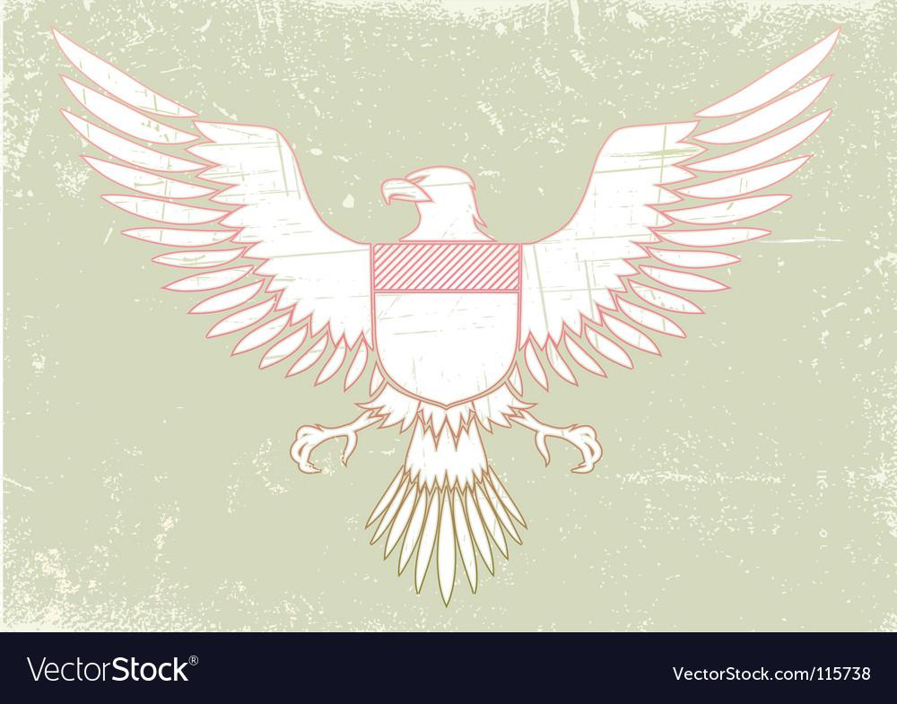Medieval eagle vector