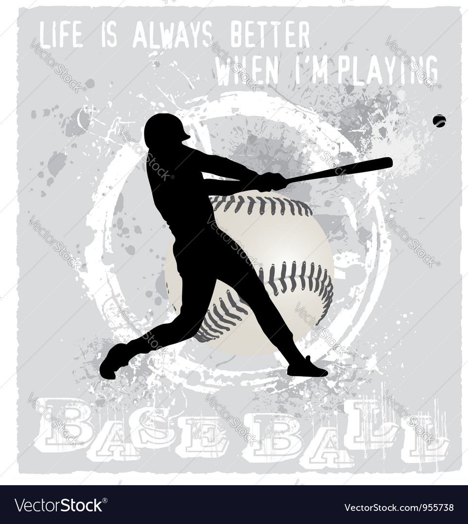 Playing baseball vector